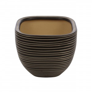 Ghiveci ceramic 112099SQ, patrat, 29 x 23 cm