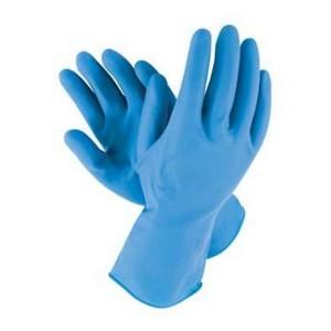 Manusi menaj, marimea XL, latex, albastre