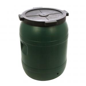 Butoi plastic Dolplast, cu capac, verde 220 litri