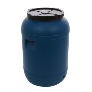 Butoi plastic Dolplast, cu capac, albastru 120 litri