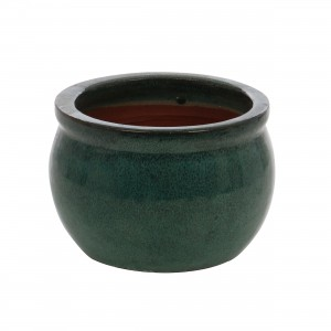 Ghiveci ceramic 21237 V, rotund, 15 x 13 cm