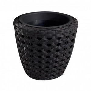 Ghiveci din plastic 221-0700, negru D 39 cm