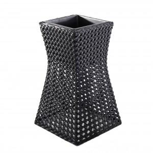 Ghiveci din plastic 221-0707-M, negru 38 x 38 cm