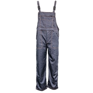 Pantaloni salopeta pentru protectie, bumbac + tercot, antracit, marimea 48