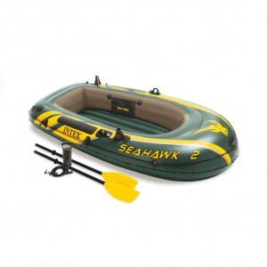Set barca gonflabila / pneumatica Intex 68347NP Seahawk 2, pentru 2 persoane + vasle