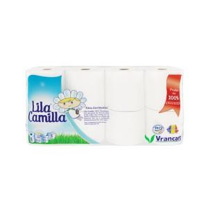 Hartie igienica Lila Camilla, celuloza, 3 straturi, alba, 8 role