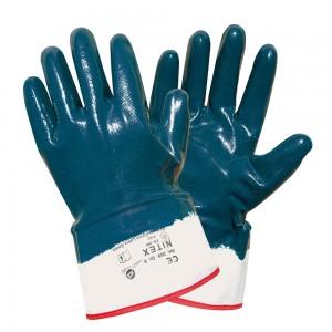 Manusi de protectie Dalgeco Nintex, din tricot si cauciuc nitrilic, marimea 10