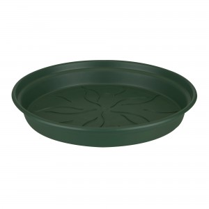 Farfurie ghiveci Dalia, plastic, rotund, verde, D 45 cm