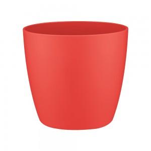 Ghiveci din plastic Brusseles mini, rosu D 10.5 cm