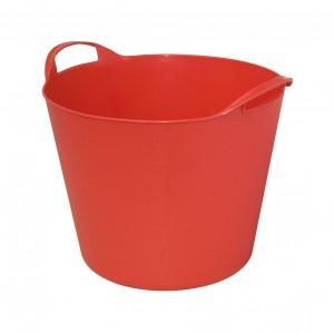 Galeata flexibila ArtPlast Flex Bag, rosie, cu 2 manere, 38 cm, 24L
