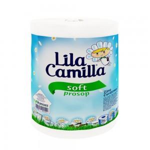 Prosop de hartie Lila Camilla, 2 straturi, L 76 m, celuloza, alba