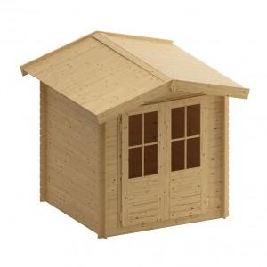 Casuta pentru gradina, cu fereastra, Porto, lemn, 219,5 x 220 x 194,5 cm