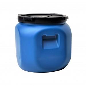 Bidon Dolplast, albastru, patrat, cu capac, 41 x 41 x 41 cm, 40L