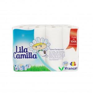 Hartie igienica Lila Camilla, celuloza, 3 straturi, alba, 24 role