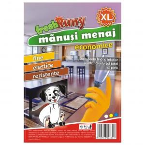 Manusi menaj Misavan FreshRuny, marimea XL, latex, portocaliu