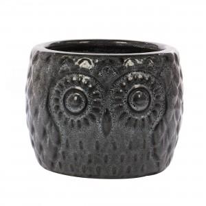 Ghiveci ceramic , negru blossom, 27 x 20 cm