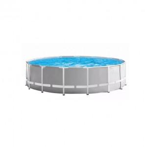 Piscina cu cadru metalic, Intex 26726NP , rotunda, cu pompa de filtrare, 457 x 122 cm