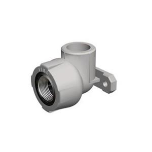 Cot PPR, cu flansa, FI-FE, 25 mm x 1/2 inch, alb