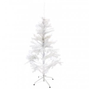 Brad artificial de Craciun, SYCT14-001, alb, 120 cm