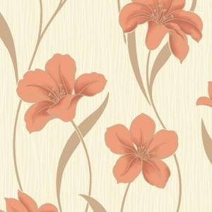 Tapet hartie, model floral, Grandeco Villa moura BOA-013-03-6 10.05 x 0.53 m