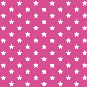 Autocolant decorativ Gekkofix Stars 13412, alb + roz, 0.45 x 15 m