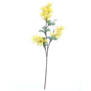 Floare artificiala, BF14-1033P, galben, 52 cm