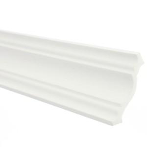 Bagheta polistiren decorativa C08 / 80 clasic alb 200 x 8 x 8 cm