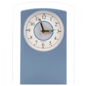 Ceas birou 4109, analog, dreptunghiular, din plastic, 14 x 10.5 cm