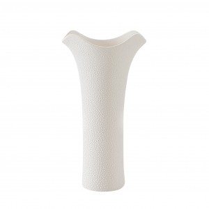 Vaza din ceramica, crem, 8 x 15 x 28 cm