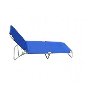 Sezlong plaja CS201 pliabil structura metal albastru 190 x 56 x 27 cm