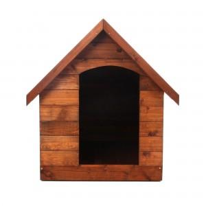 Cusca pentru caini talie mare, din lemn, 89 x 110 x 95 cm