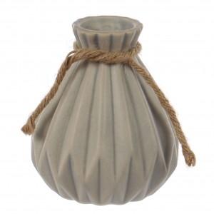 Vaza decorativa 12006, gri mat, H 10.2 cm