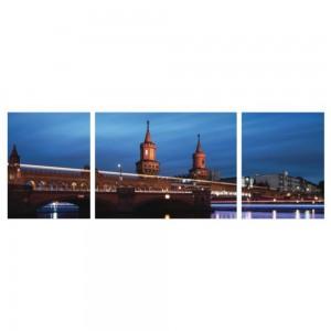 Tablou canvas 3 piese, PT1527, panza + sasiu brad, stil orase si arhitectura, 2 piese - 35 x 45 cm + 1 piesa - 45 x 60 cm