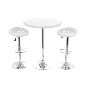 Set masa cu 2 scaune pentru gradina Bistro din metal cu PVC
