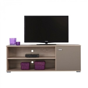 Comoda TV Amos TV2P, stejar sonoma + latte, 120 x 42 x 43.5 cm, 1C