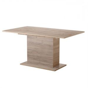 Masa bucatarie fixa Eldon, dreptunghiulara, 6 persoane, stejar gri, 153 x 90 x 75.5 cm, 1C
