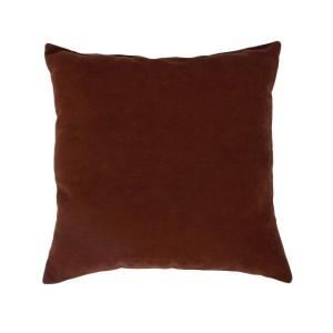 Perna decor Hazan 74, maro, poliester + fibra poliester siliconizata, 43 x 43 cm