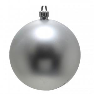 Globuri Craciun, argintiu, D 12 cm, set 2 bucati, Metalizat