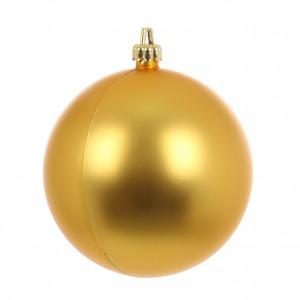 Globuri Craciun, auriu, D 10 cm, set 2 bucati, Metalizat