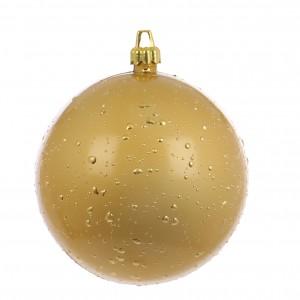 Glob Craciun, auriu, D 15 cm, Rugiada