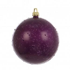 Globuri Craciun, violet, D 10 cm, set 2 bucati, Rugiada