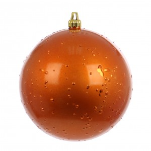 Globuri Craciun, portocaliu, D 12 cm, set 2 bucati, Rugiada