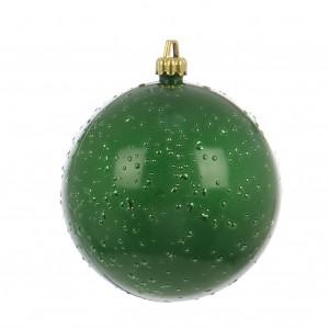 Globuri Craciun, verde, D 10 cm, set 2 bucati, Rugiada