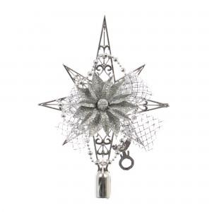 Decoratiune Craciun, argintie, SYLD17-046