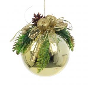 Glob Craciun, decorativ, auriu, 15 cm SYCB17-156