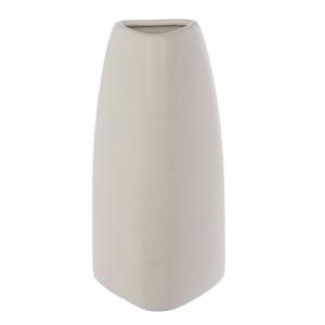 Vaza CV5085 317, alb mat, H 21 cm