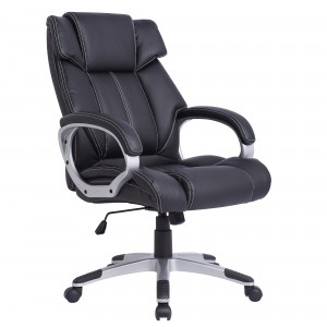 Scaun birou ergonomic HLC-1832L, rotativ, PU + PVC, negru