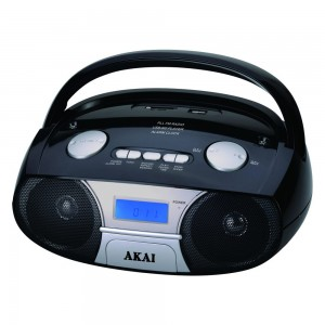 Radio MP3 player Akai APRC-106, 3 W, alimentare retea, radio FM stereo, USB, SD card reader, Aux in, functie Repeat, functie alarma