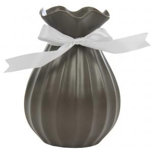Vaza ceramica decorativa, 354C, gri, 14.5 x 19.5 cm