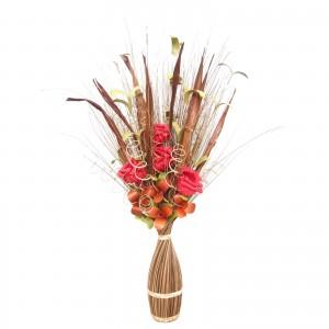 Flori uscate, 118 AR 38664, 100 cm, maro + natural